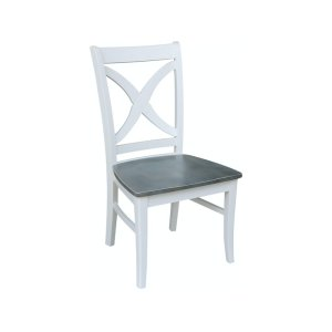 JOHN THOMAS FURNITURESalerno Chair in Heather Gray & White