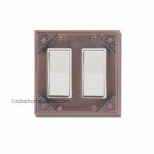Craftsman Double Rocker Switch Plate