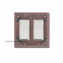 Craftsman Double Rocker Switch Plate
