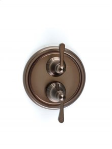 Berea Dual-control Thermostatic Valve with Volume Control Trim - Bronze