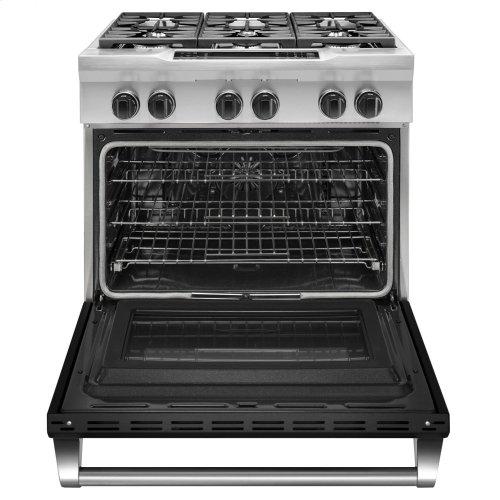 36'' 6-Burner Dual Fuel Freestanding Range, Commercial-Style - Imperial Black
