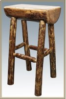 Glacier Country Half Log Barstool Product Image