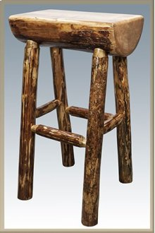 Glacier Country Half Log Barstool