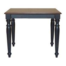 Solid Top Table in Espresso & Aged Ebony