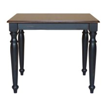 Solid Top Table in Espresso & Aged Ebony