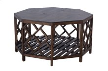 Cocktail Table, Available in Antique Pecan Finish Only.