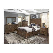 California King Platform Bed with Rails Storage