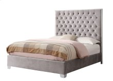Complete Upholstered Bed-5/0 Queen-hb/fb/rails-grey