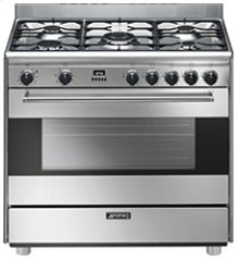 "Free-Standing Dual Fuel Range, Approx 36"", Stainless Steel"