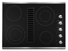 """30"""" Downdraft Electric Cooktop with 4 Elements - Stainless Steel"""
