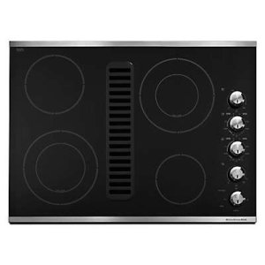 "KITCHENAID30"" Downdraft Electric Cooktop with 4 Elements - Stainless Steel"