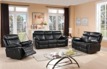 8030-S Black Reclining Sofa