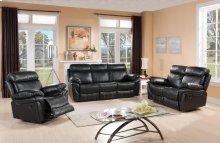 8030-S Black Reclining Sofa