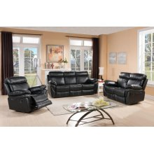 8030-L Black Reclining Love Seat