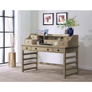 RiversidePerspectives - Leg Desk With Hutch - Sun-drenched Acacia Finish