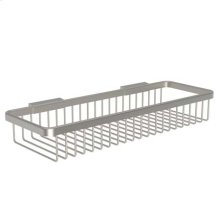 Satin Nickel Long Deep Toiletry Basket