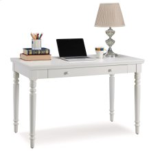 Cottage White Turned leg Laptop Desk with Center Drawer #85410