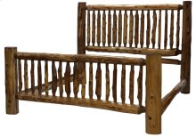 Small Spindle Bed Cal King, Vintage Cedar