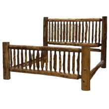 Small Spindle Bed - Cal King - Vintage Cedar