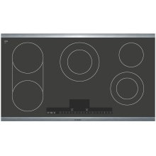 36 Stainless Steel Electric Cooktop with Touch Control 500 Series - Black and Stainless Steel