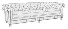 "London Club Sofa (92-1/2"") in Molasses (780) Product Image"