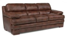 Dylan Leather Three-Cushion Sofa without Nailhead Trim