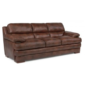 FLEXSTEELHOMEDylan Leather Three-Cushion Sofa without Nailhead Trim