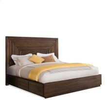 Modern Gatherings Full/Queen Platform Panel Headboard Brushed Acacia finish