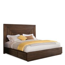 Modern Gatherings Queen Platform Panel Footboard Brushed Acacia finish