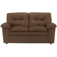 Signature Design by Ashley Mercer Loveseat in Cafe Fabric