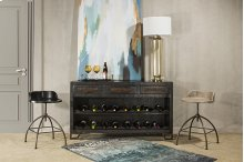 Bridgewater Console Table With Removable Wine Rack - Brushed Tan Wood