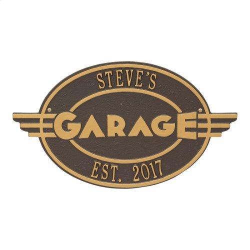 Moderno Garage Personalized Plaque - Bronze/Gold