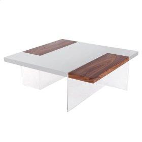 Astra KD Coffee Table, Gray/Walnut