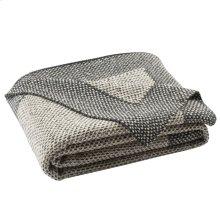 Dania Knit Throw - Dark Grey / Natural / Silver
