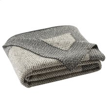 Dania Knit Throw - Dark Grey / Natural / Silver