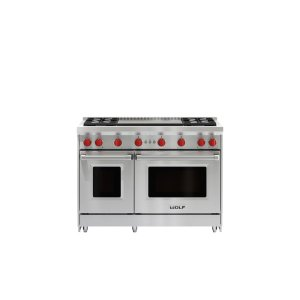 """Wolf48"""" Gas Range - 4 Burners and Infrared Dual Griddle"""