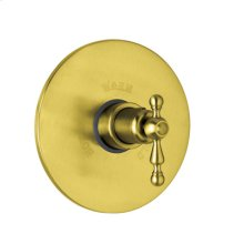 Inca Brass Arcana Thermostatic Trim Plate Without Volume Control with Arcana Ornate Metal Lever