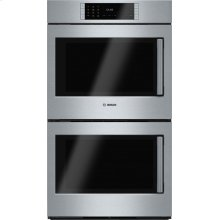 Benchmark® built-in double oven 30'' Stainless steel, Door hinge: Left HBLP651LUC
