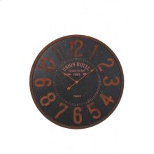 Clock 80x4,5 cm TYLER balck brown