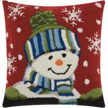 """Home for the Holiday Yx033 Multicolor 18"""" X 18"""" Throw Pillows"""