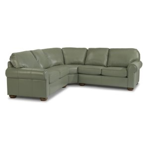 FLEXSTEELPreston Leather Sectional
