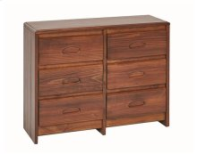Heartland Flat Top 6 Drawer Dresser with options: Chocolate