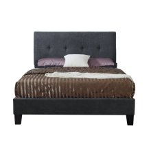 Emerald Home Harper Upholstered Bed Kit Cal King Charcoal B129-13hbfbr-13