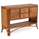 Rattan Console Table Pecan Glaze 5504 Product Image