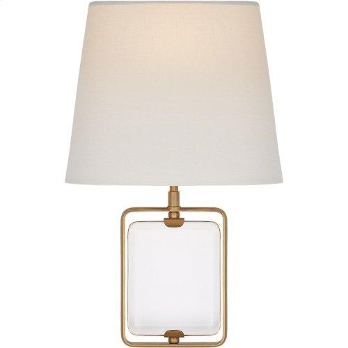 Visual Comfort SK2030CG/HAB-L Suzanne Kasler Henri 1 Light 10 inch Hand-Rubbed Antique Brass Framed Jewel Sconce Wall Light