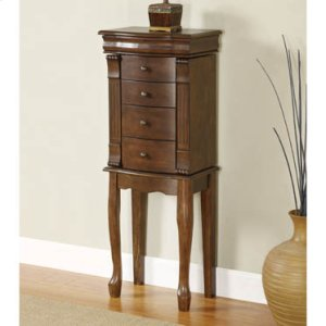"Louis Philippe ""Walnut"" Jewelry Armoire"