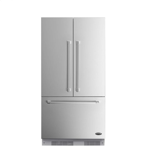 "DCS Activesmart Refrigerator 36"" Integrated French Door With Ice - 72"" Tall"