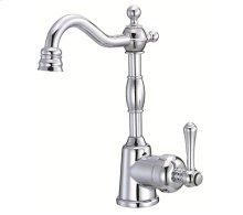 Chrome Single Handle Bar Faucet, 1.75gpm