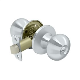 Portland Knob Privacy - Polished Chrome