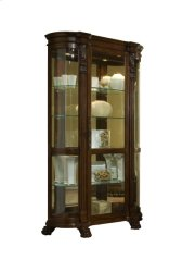 Foxcroft Curved End Mirrored Curio Product Image